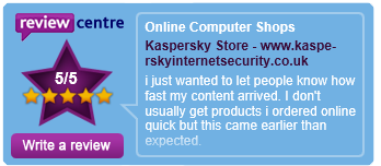 Kaspersky Store 5 Star Reviews!
